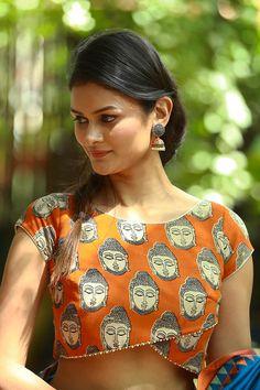 bc8cf41fe807b 57 Best Kalamkari blouse designs images