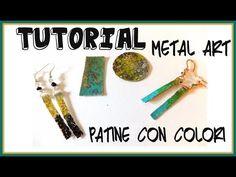 Tutorial Metal Art Patina - Patinare con i colori per metalli - con Perles&Co - YouTube