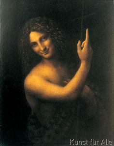 Leonardo da Vinci - Johannes der Täufer He kept this painting in his room until his death.  wonder why?
