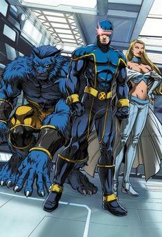 Beast, Cyclops & Emma Frost