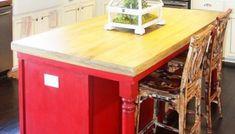 Remodelaholic | Affordable Stainless Steel Countertops; DIY Reclaimed Wood Countertop, Diy Concrete Countertops, Kitchen Countertops, Pool House Decor, Solid Oak Doors, Modular Furniture, Furniture Nyc, Cheap Furniture, Kitchen Furniture