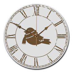 Wanduhr rund Wintervogel mit Schal aus MDF  Weiß - Das Original von Mr. & Mrs. Panda.  Eine wunderschöne runde Wanduhr aus hochwertigem MDF Holz mit goldenen Zeigern und absolut lautlosem Uhrwerk    Über unser Motiv Wintervogel mit Schal  Was wäre die Weihnachtszeit ohne unsere einheimischen Vögel, die eifrig nach Futtersuche und warmen Plätzchen sind.    Verwendete Materialien  ##MATERIALS_DESCRIPTION##    Über Mr. & Mrs. Panda  Mr. & Mrs. Panda - das sind wir - ein junges Pärchen aus dem…