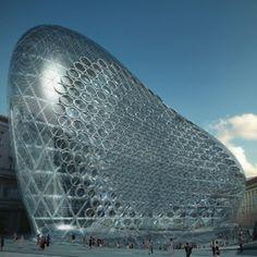 Zaha Hadid ha progettato un edificio per Szervita Square, nel centro storico di Budapest, Ungheria
