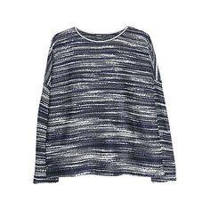 Buy Mango Flecked Oversized Sweatshirt Online at johnlewis.com