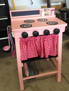 I freakin love these diy kitchens! Preschool Toys, Toddler Preschool, Toddler Toys, Kids Toys, Kids Come First, Kids Play Kitchen, Old Barn Wood, Diy Kitchens, Room Mom