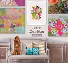 Wall Art for Home- Oopsy Daisy, featuring Shelly Kennedy/drooz studio Spring Floral I