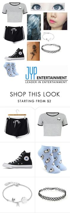 """Untitled #116"" by skylar123-479 on Polyvore featuring WithChic, Converse, Forever 21 and Disney"