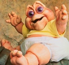 Baby Sinclair of the Dinosaurs tv show Earl Sinclair, Dinosaurs Tv, Jorge Diaz, Raul Gil, History Of Television, Fraggle Rock, Kino Film, Old Tv, The Good Old Days