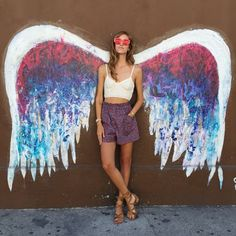 Angle Wing Mural, Angel City Brewery: Alameda + Traction - Amongst all the street art in LA these wings literally capture the essence of being in the City of Angels.Photo: @chiaraferragni