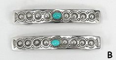 Navajo Sterling Silver and turquoise barrette
