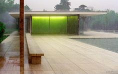 German Pavilion in Barcelona / Mies van der Rohe