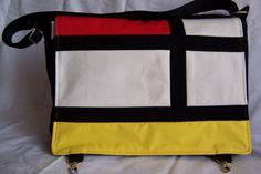 New Mondrian inspired messenger bag on my Etsy site....