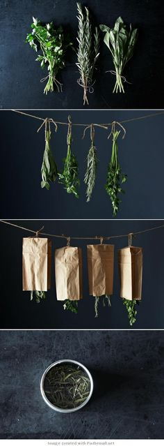 DIY - How to dry your herbs - you need herbs for soups to reduce fat and salt. Summer is coming and buy cheap fresh herbs at your local Farmer's Markets.