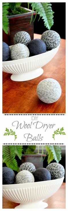 DIY Wool Dryer Balls - cuts your drying time in half and gets rid of static cling, plus they're really easy to make