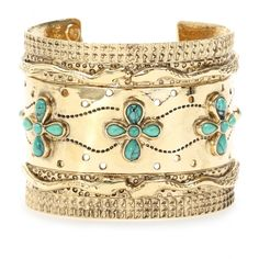 Cuff with turquoise