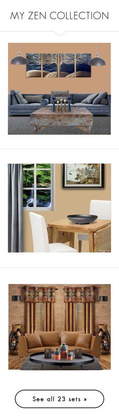 """MY ZEN COLLECTION"" by arjanadesign ❤ liked on Polyvore featuring interior, interiors, interior design, home, home decor, interior decorating, livingroom, Home, interiordesign and urbanzen"
