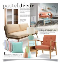 """""""Pastel Home Decor 3368"""" by boxthoughts ❤ liked on Polyvore featuring interior, interiors, interior design, home, home decor, interior decorating, Fredericia, Antique Revival, Victoria Classics and NOVICA"""