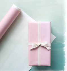Pink ombre gift wrap is a thoughtful touch to any gift. I used this wrap and added a simple ribbon for an elegant look.