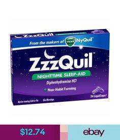 Sleeping Aids Vicks Zzzquil Nighttime Sleep-Aid Liquicaps, 24 Count #ebay #Fashion