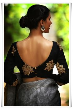 Trendy sari blousess online Want to know more #sariblouse