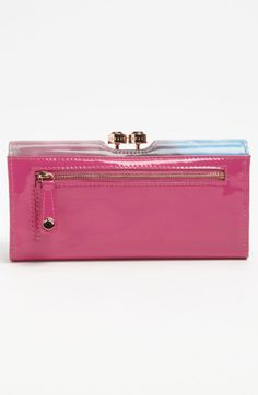 Ted Baker Moody Sunset Crystal Bobble Matinee Wallet in Pink (mink)