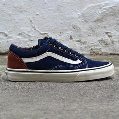 Vans Old Skool Suede in Navy. #vans #footwear #era #suede