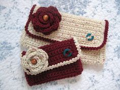Crochet Clutch Set, Crochet Clutch, Crochet Purse, .