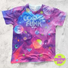 COSMIC FUNK Unisex T-shirt exclusively for TheColorPopShop.com #thecolorpopshop #tee #tshirt #vintage #cosmic #funk #music