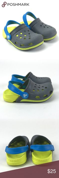 886c8b3d6333 Crocs Toddler Boys Electro III Clogs Size 8 M Crocs Toddler Boys Electro  III Slate Grey Tennis Ball Green Clogs Size 8 M Gently used. See photos for  a full ...