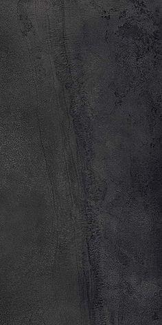 Grès cérame Type, coloré pleine masse, effet tôle oxydée, coloris Dark. 120 x 60/120/240 30/60 x 60 cm. ©Marca Corona