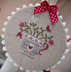 teacup (picture only) cross sttch Small Cross Stitch, Cross Stitch Kitchen, Cross Stitch Finishing, Cross Stitch Cards, Cross Stitch Samplers, Cross Stitch Designs, Cross Stitching, Cross Stitch Embroidery, Embroidery Patterns