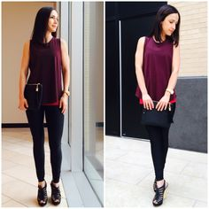 Lululemon Power Y Tank:  Wear Three Ways Night Out! Paired with Here to There Tank and Shine Tight