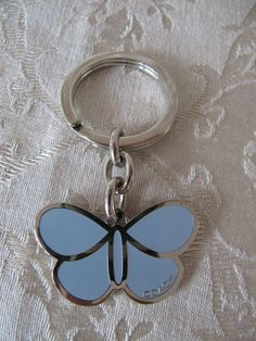 9f0df2e5838 Coach Butterfly Periwinkle Color Enamel Charm Key Ring Key Fob EUC  fashion   clothing  shoes  accessories  unisexclothingshoesaccs  unisexaccessories  (ebay ...