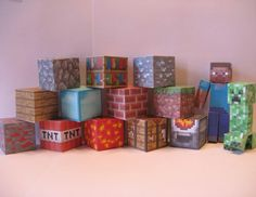 Minecraft themed printable project 12 blocks by JovinCreations, $3.00