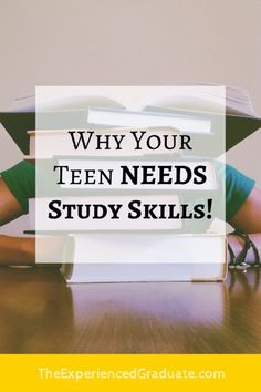 Why your teen NEEDS study skills! — The Experienced Graduate Skills To Learn, Study Skills, Good Motivation, Study Motivation, High School Hacks, School Tips, College Success, College Tips, What To Study