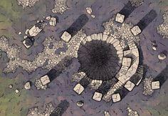 Shrine w underdark entrance dungeon desert rough wilderness Fantasy Rpg, Medieval Fantasy, Fantasy Map Maker, Pathfinder Maps, Rpg Map, Map Games, Dungeon Maps, D&d Dungeons And Dragons, Tabletop Rpg