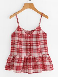 I love the checkered print; looks Americana classic and the flattering shape. Girls Fashion Clothes, Modest Fashion, Fashion Outfits, Girl Fashion, Clothes For Women, Stylish Summer Outfits, Casual Outfits, Cute Outfits, Crop Top Outfits