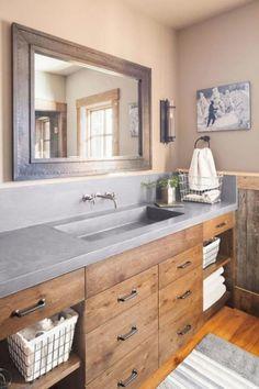 65 Amazing Farmhouse Bathroom Remodel Decor Ideas NICE COLORS #BathroomRemodeling