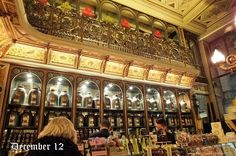 Old chocolate shop Meert, in Lille, France
