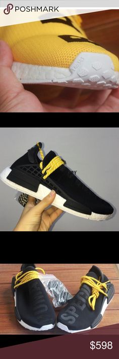Adidas human race sneakers Pharrell Williams Brand new in the box. I have 12 pairs assorted sizes all brand new super rare and ready to ship. Adidas human race sneakers colab with Pharrell williams are super rare. Don't sleep Adidas Shoes Sneakers