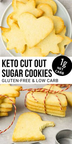 Diabetic Cookies, Gluten Free Sugar Cookies, Keto Cookies, Healthy Sugar Cookies, Healthy Low Carb Recipes, Low Carb Desserts, Keto Recipes, Diabetic Recipes, Dessert Recipes