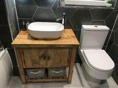Wooden Bathroom Vanity, Bathroom Vanity Units, Wood Vanity, Bathroom Basin, Bathroom Ideas, Bathroom Renovations, Bathroom Storage, Bathroom Interior, Sink Vanity Unit