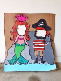 Mermaid and pirate party photo booth