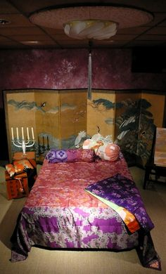 Bedspread made from Japanese meisen kimono by Carolina Breuer, Amsterdam.