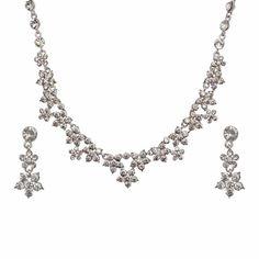 Aaishwarya Dazzling Crystals Party Necklace Set #necklaceset #partynecklace #crystalnecklace