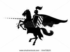 simple knight silhouette clip art - Google Search