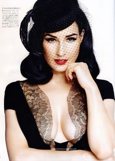 Dita Von Teese: Not an overly attractive woman but shes knows ...