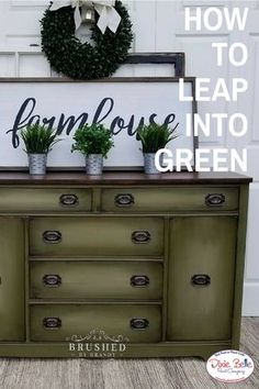 Leap into Green with Dixie Belle Paint Company. Read more on our blog now! #dixiebellepaint #bestpaintonplanetearth #chalklife #homedecor #doityourself #diy #chalkmineralpaint #chalkpainted #easypeasypaint #makingoldnew #whybuynew #justpainting #paintedfurniture