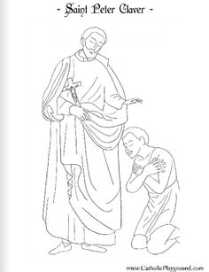 Saint Peter Claver Catholic coloring page #1: Feast day is September 9th