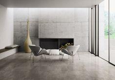 Indoor tile / floor / porcelain stoneware  / stone look GRAFITE : GRIGIO FLAVIKER Contemporary Eco Ceramics